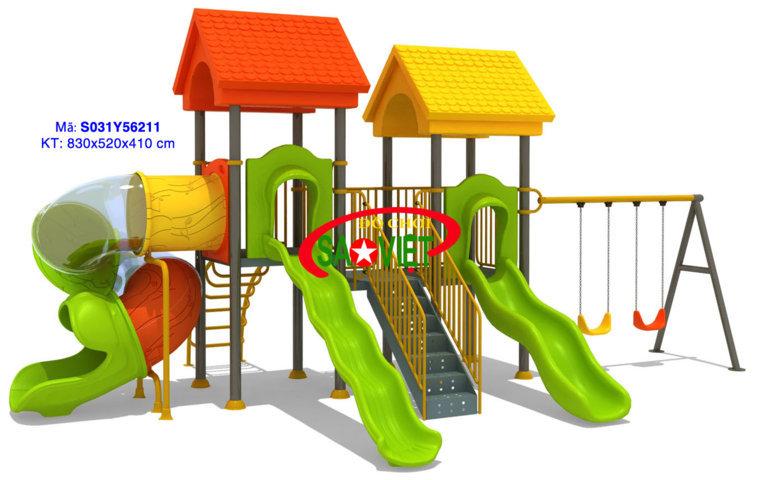 Cầu trượt liên hoàn xích đu công viên