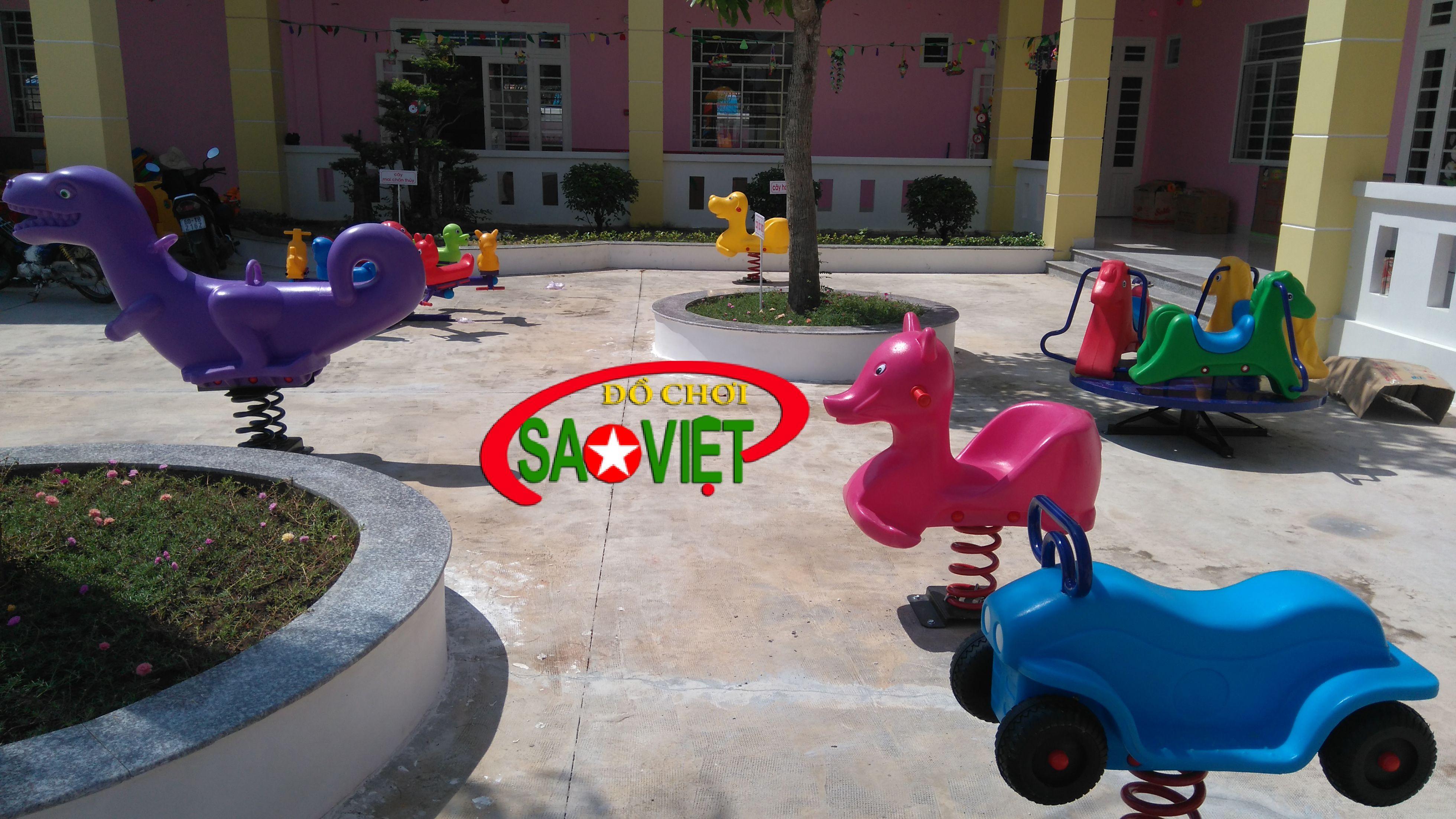 Lắp đặt thiết bị sân chơi mầm non tại Bắc Ninh
