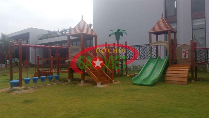 Lắp đặt thiết bị sân chơi mầm nnon tại Đắk Lắk