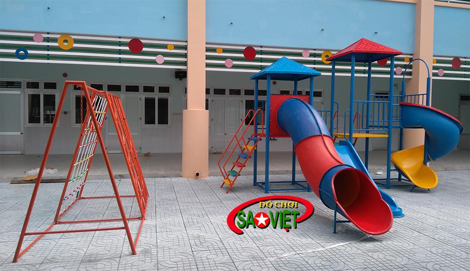 Lắp đặt thiết bị sân chơi mầm non tại Điện Biên