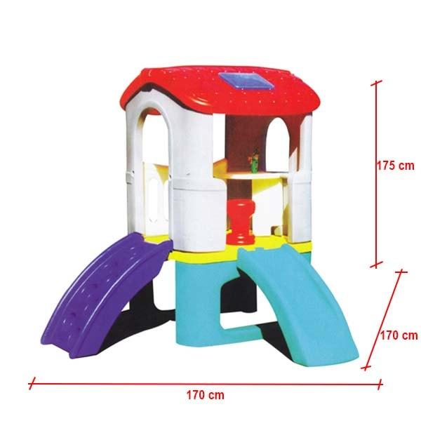 kích thước nhà chơi cầu trượt cho bé s03nm028