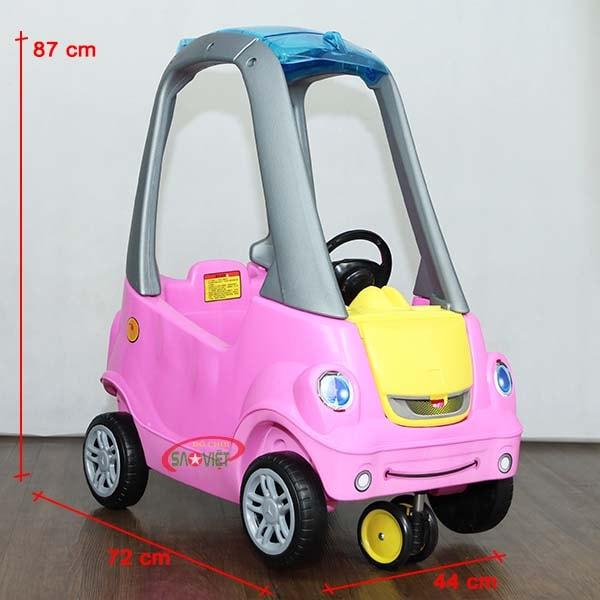 kích thước xe ô tô chòi chân 4 bánh đẹp cho bé S18N06