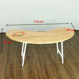 bàn bán nguyệt gỗ mầm non chân gấp S013VD2K 2