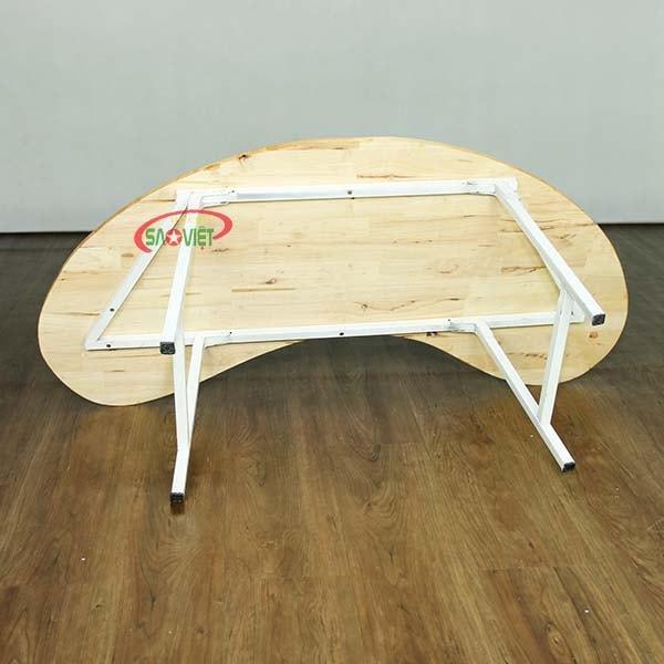 bàn bán nguyệt gỗ mầm non chân gấp S013VD2K 4