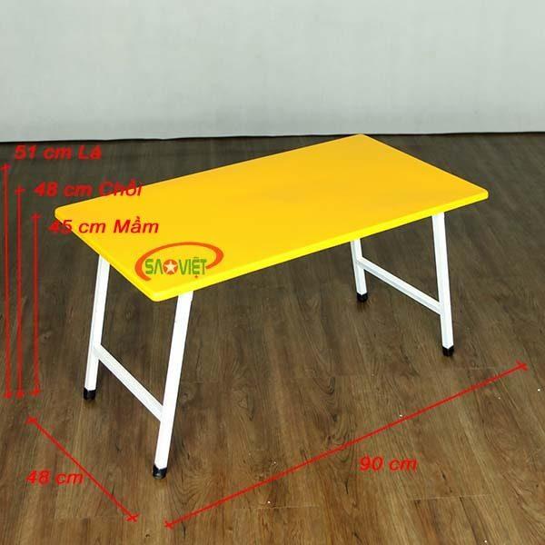 bàn mầm non composite chân gấp S013VC 3