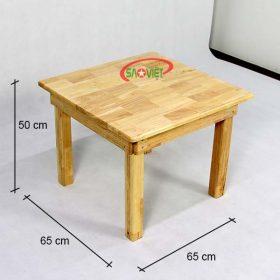 kích thước bàn ghế gỗ 4 chỗ cho bé mầm non S013VF03