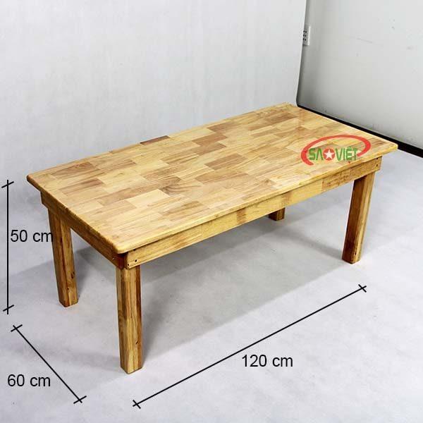 kích thước bàn ghế gỗ mầm non 6 chỗ S013VF04
