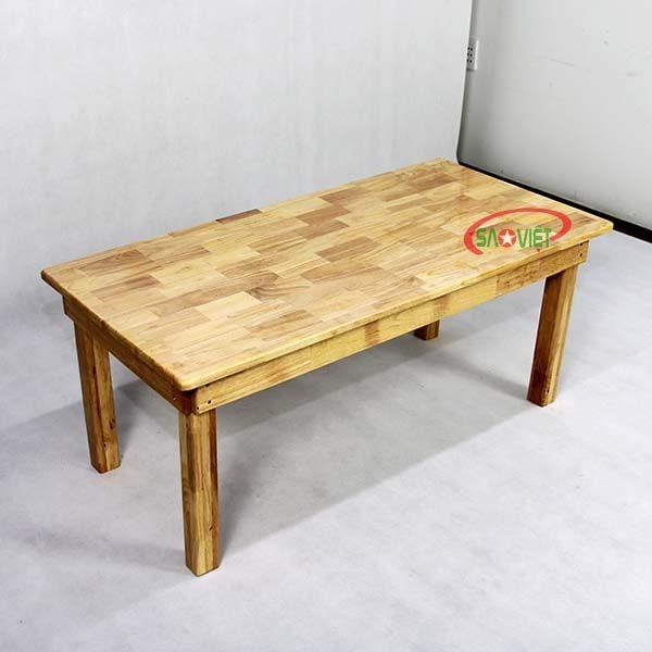 bàn ghế gỗ mầm non 6 chỗ S013VF04