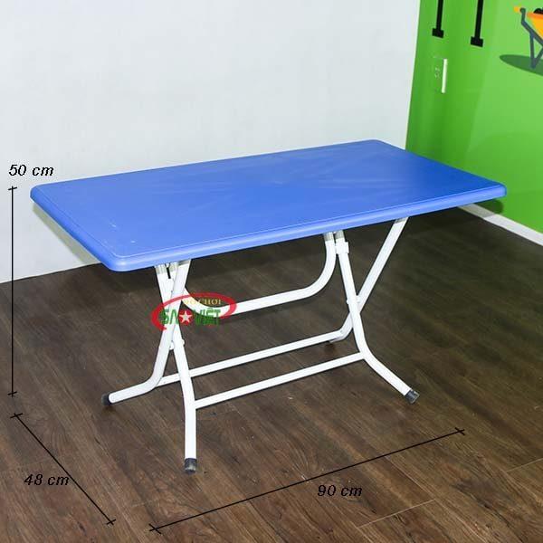 kích thước bàn học cho bé mầm on chân gấp chéo S013VA2