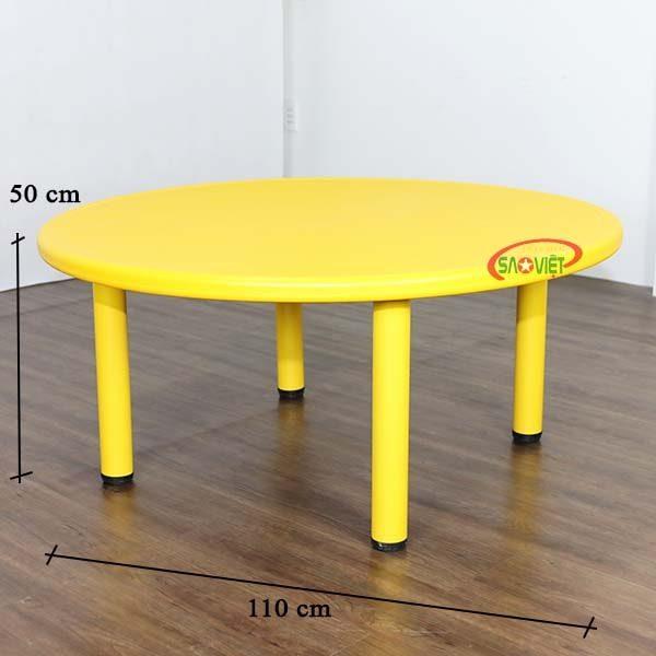 kích thước bàn nhựa tròn cho bé mầm non S013NC