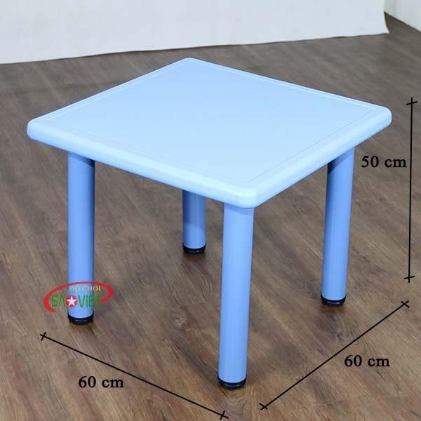 kích thước bàn nhựa vuông cho bé mầm non S013NA