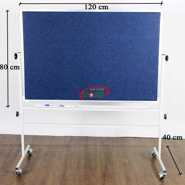 kích thước bảng quay 2 mặt mầm non S016A003
