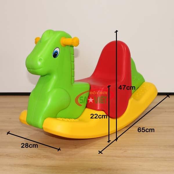 kích thước bập bênh cho bé con ngựa S04NA33