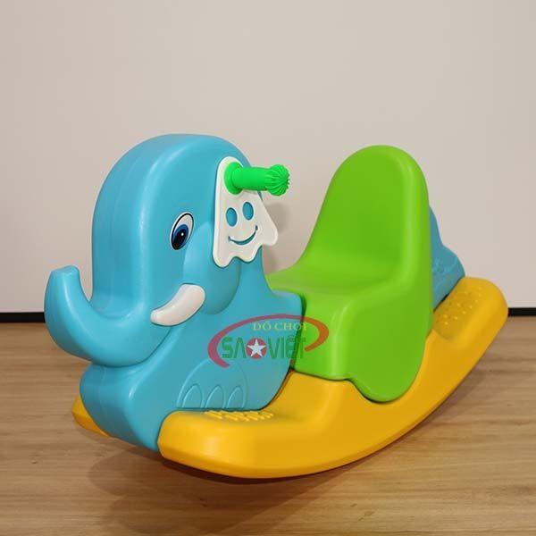 bập bênh con voi bằng nhựa S04NA34