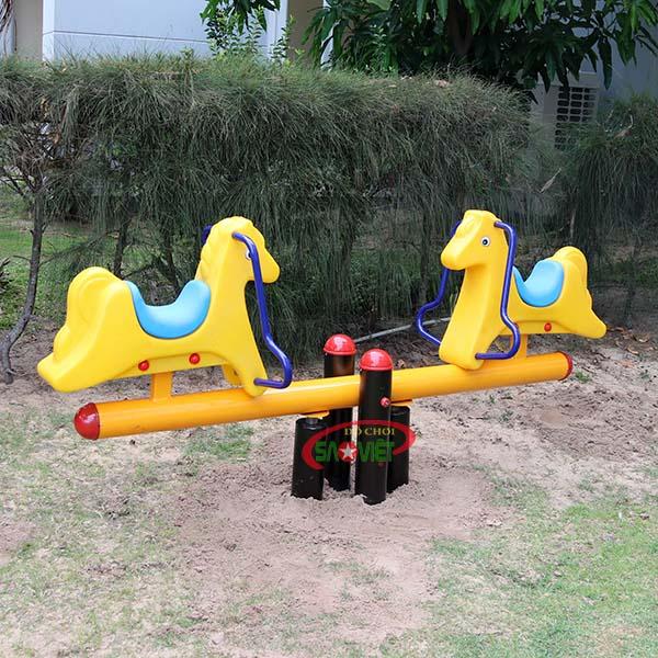 bập bênh công viên 2 con ngựa s04np73 3