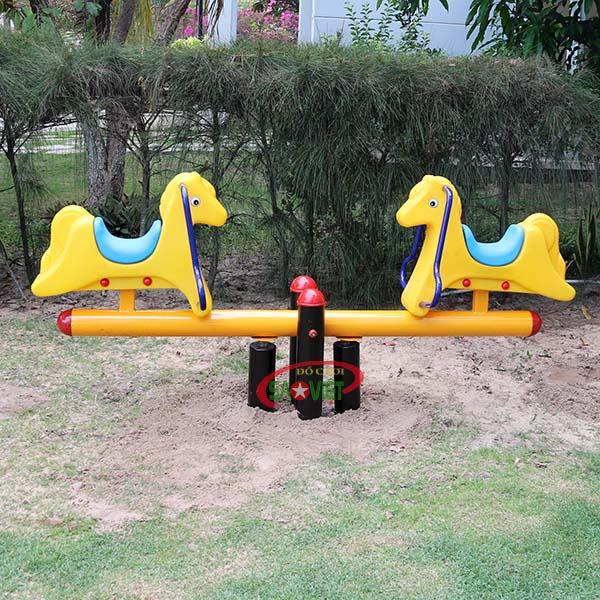 bập bênh công viên 2 con ngựa s04np73