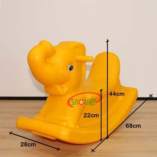 kích thước bập bênh mini cho bé con voi s04na53