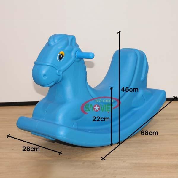 kích thước bập bênh mini trẻ em con ngựa S04NA54