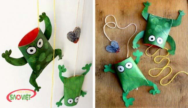 tự làm đồ chơi cho bé ếch săn ruồi