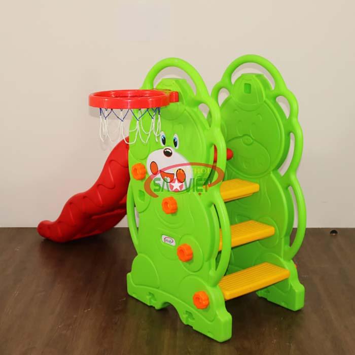 đồ chơi cầu trượt cho bé con gấu