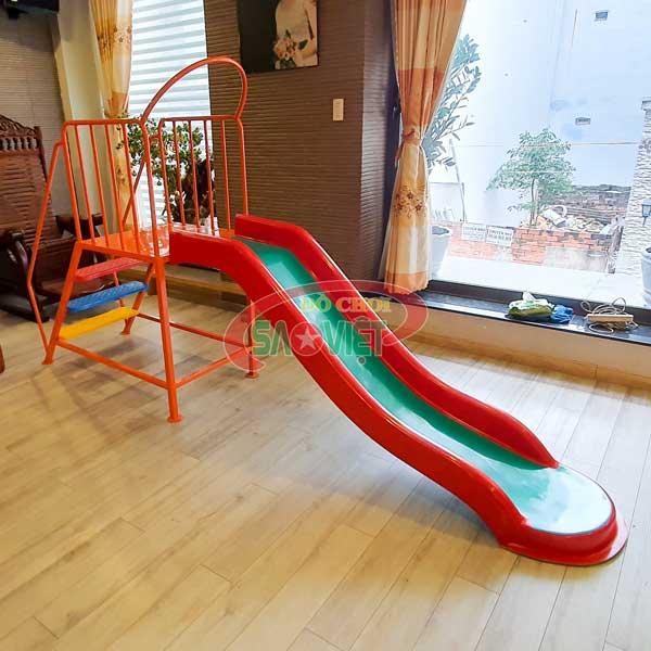 Cầu trượt đơn composite cho bé mầm non S06V026
