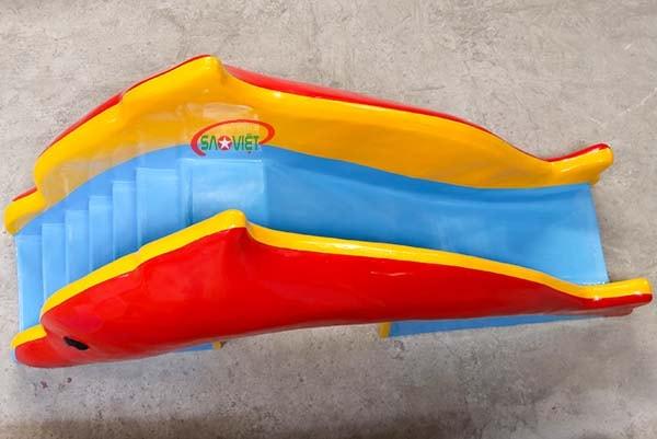 cầu trượt nước cá heo cho bé s03v120 5