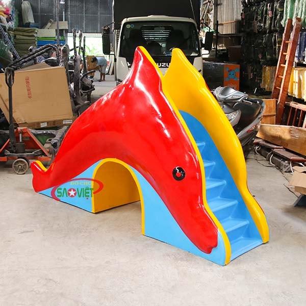 cầu trượt nước cá heo cho bé s03v120