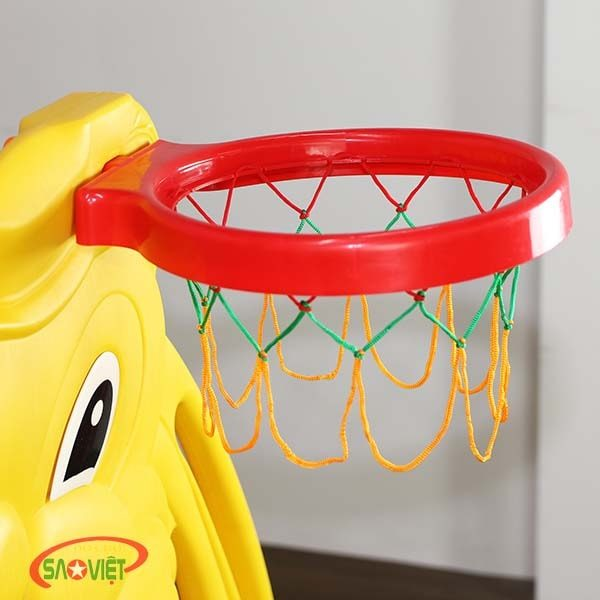 cầu trượt xích đu bóng rổ con Thỏ S03NM010