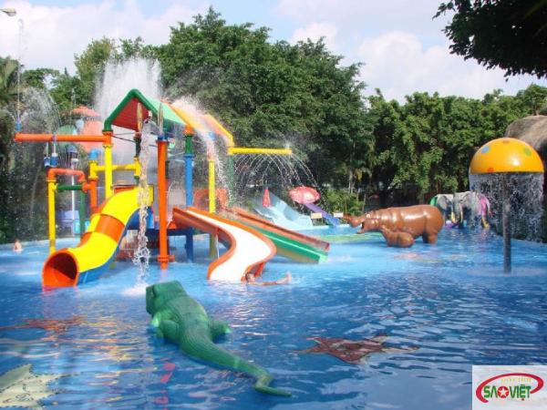 Review Công viên nước Đầm Sen , tận hưởng cả thế giới trò chơi cảm giác mạnh