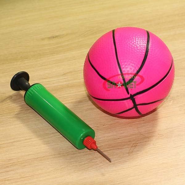 bóng và ống bơm cột ném bóng rổ cho bé