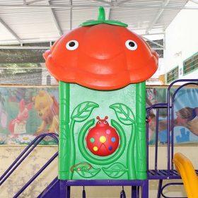 nhà chơi cà chua cầu trượt liên hoàn