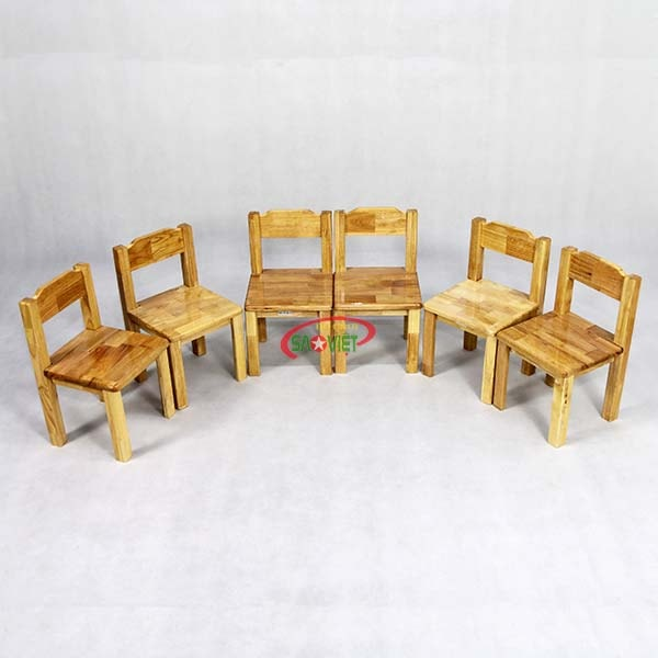 ghế gỗ cho bé mầm non S012VD3