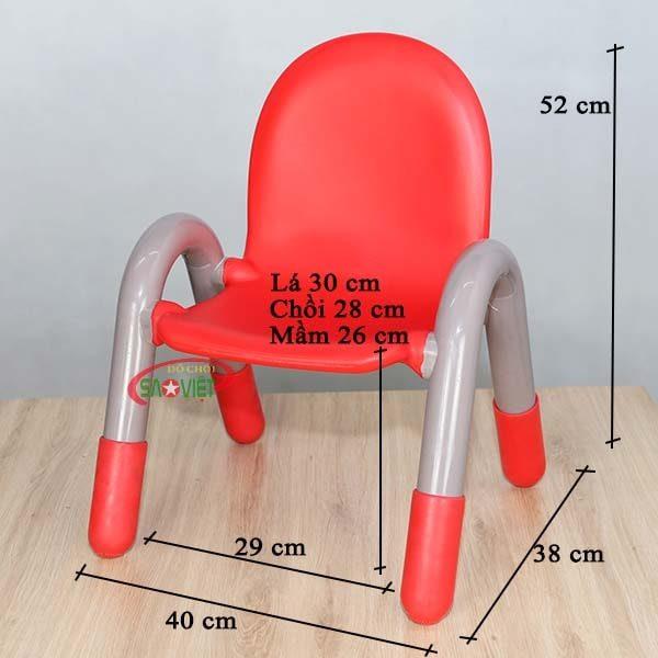 kích thước ghế mầm non có tay vịn cao cấp S012NB