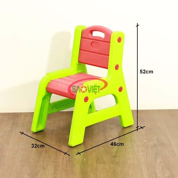 kích thước ghế nhựa học sinh mầm non