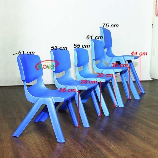 kích thước ghế nhựa mầm non nhập khẩu S012NA3