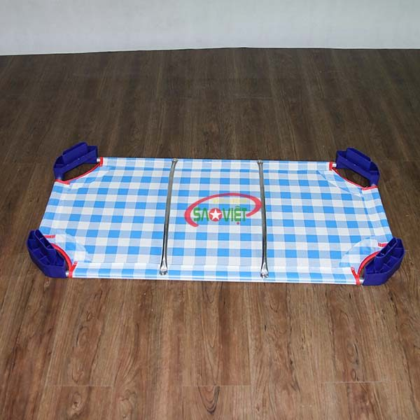giường lưới cho bé mầm non caro xanh S011VIB 3