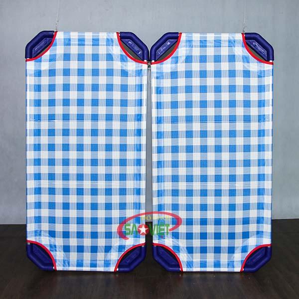 giường lưới cho bé mầm non caro xanh S011VIB