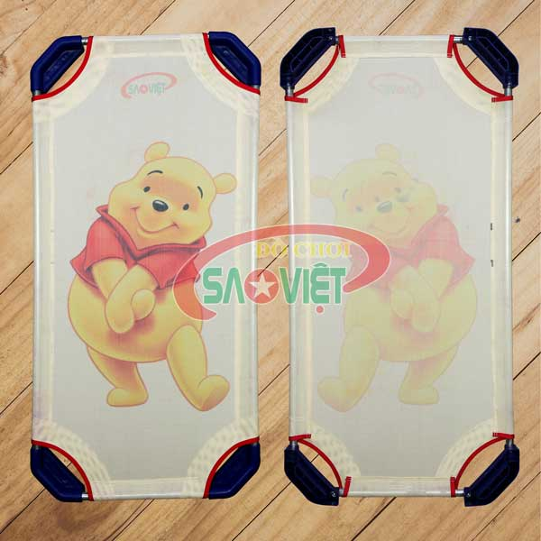 giường lưới cho bé sơ sinh mầm non Gấu Pooh S011V0O