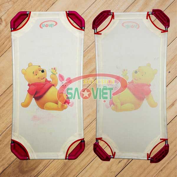 giường lưới cho bé sơ sinh mầm non Pooh Pigle S011V0K