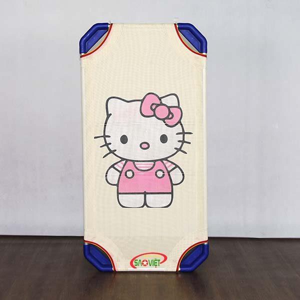 giường lưới cho bé Kitty Hồng
