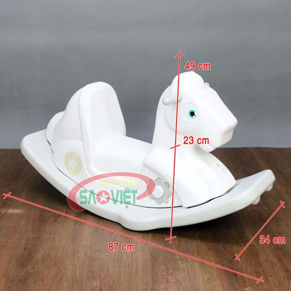 kích thước bập bênh ngựa cho bé có nhạc S0NA18