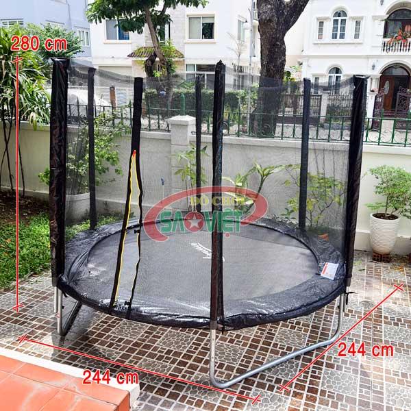 kích thước bạt nhún lò xo mini trampoline loại tròn S16N17A