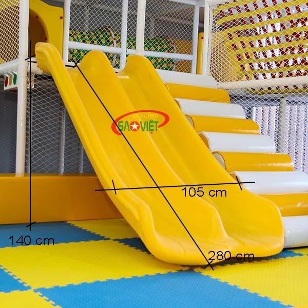 kích thước cầu trượt đôi pe nhà liên hoàn nl04doipenlh140a