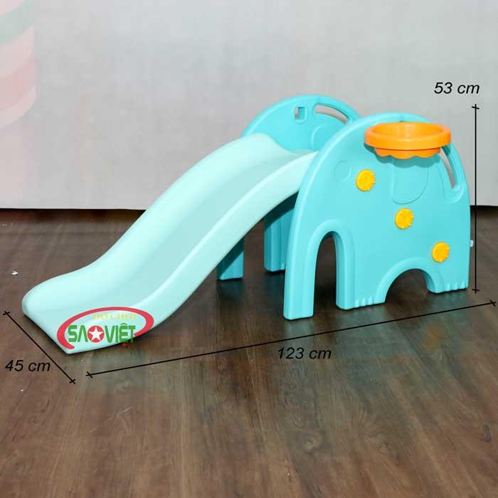 kích thước cầu trượt mini con voi s03nm014
