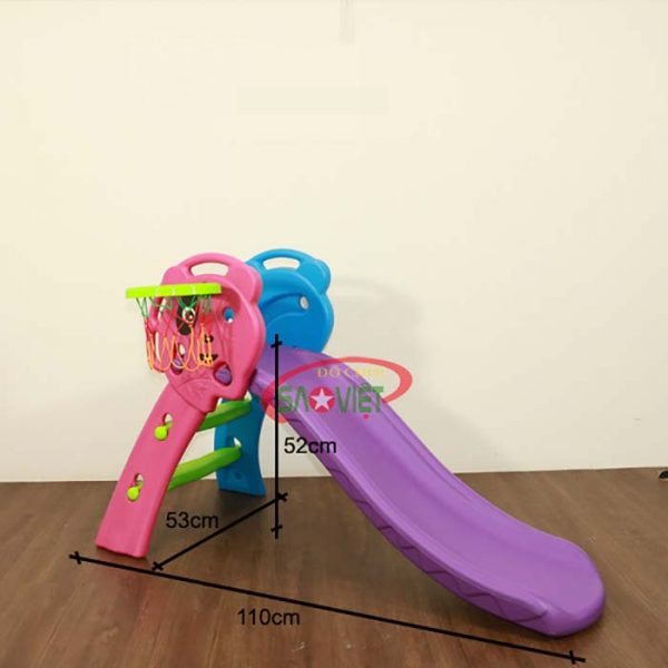 kích thước cầu trượt trẻ em mini gấp gọn s03nm001d