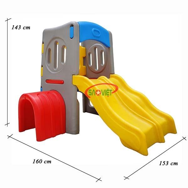 kích thước nhà chòi cầu trượt mini cho bé s03nm029