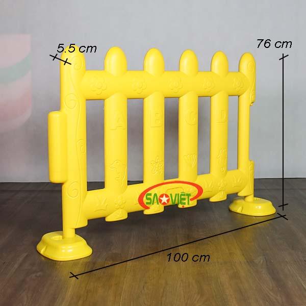 kích thước rào chắn cho bé loại lớn s08n06