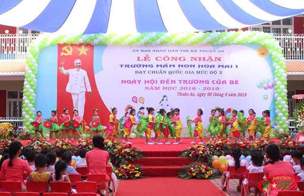 trường mầm non tốt ở Thuận An Bình Dương - Trường mầm non Hoa Mai 1