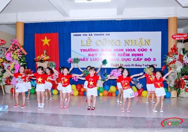trường mầm non tốt ở Thuận An Bình Dương - Trường mầm non Hoa Cúc 1