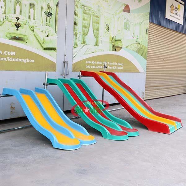 máng trượt đôi nhựa composite NL04DOICO